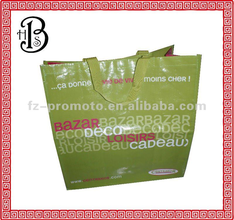 Durable pp woven shopping bags