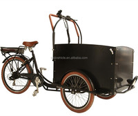 dutch style 3 wheel electric cargo bicycle/holland bakfiet cargo bike