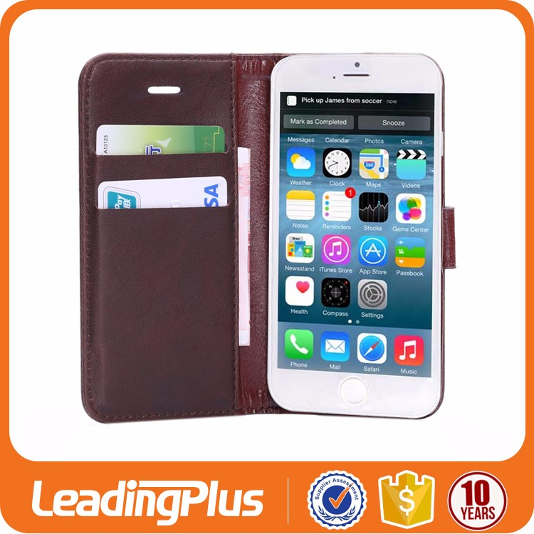 High Quality Custom Leather Cell Phone Case For Iphone 6
