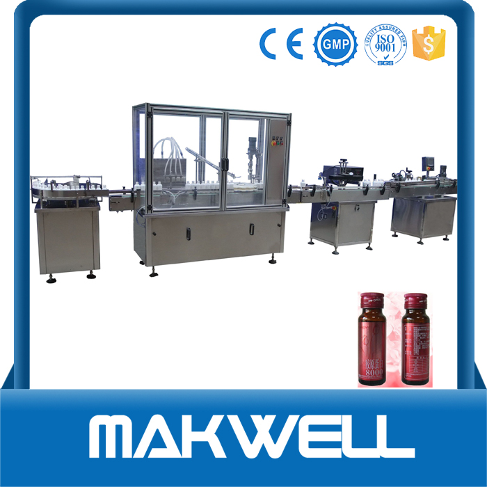 vial bottle nasal saline solution filling machine with low price