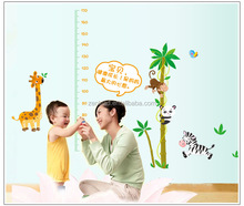 Baby Child Measure Height Sticker Animal Cartoon Giraffe Wall for Kids Room Measurement of Height Wall Stickers Home Decor Kids