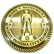 Wholesale 3D florida monument antique gold souvenir challenge coin custom