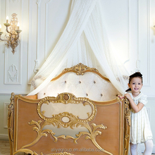 AK24-Luxury royal crown customized color new born wooden baby bed crib, new arrival elegant baby