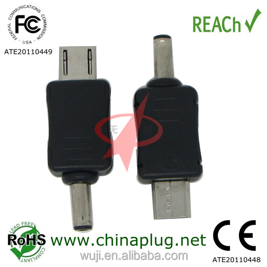 5 pin micro usb to 3.5mm dc plug <strong>adapter</strong>
