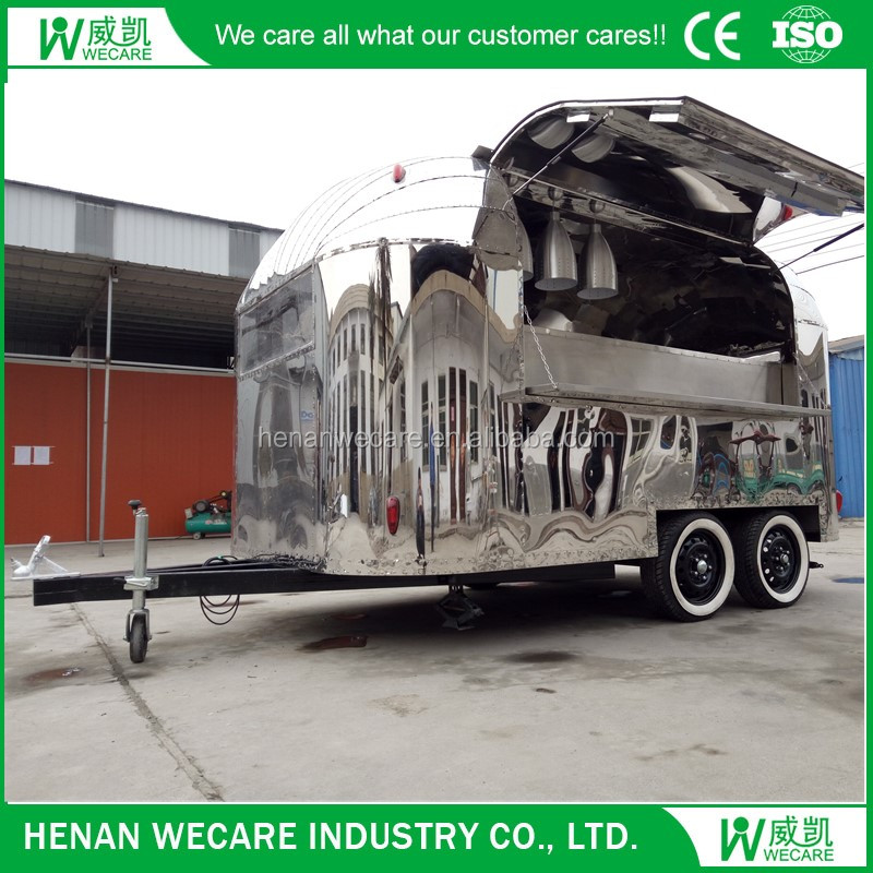 stainless steel widely used modern food vending trailer