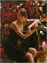 Hot Sexy Girl Oil Painting For Living Room Painting Fine Art Decor