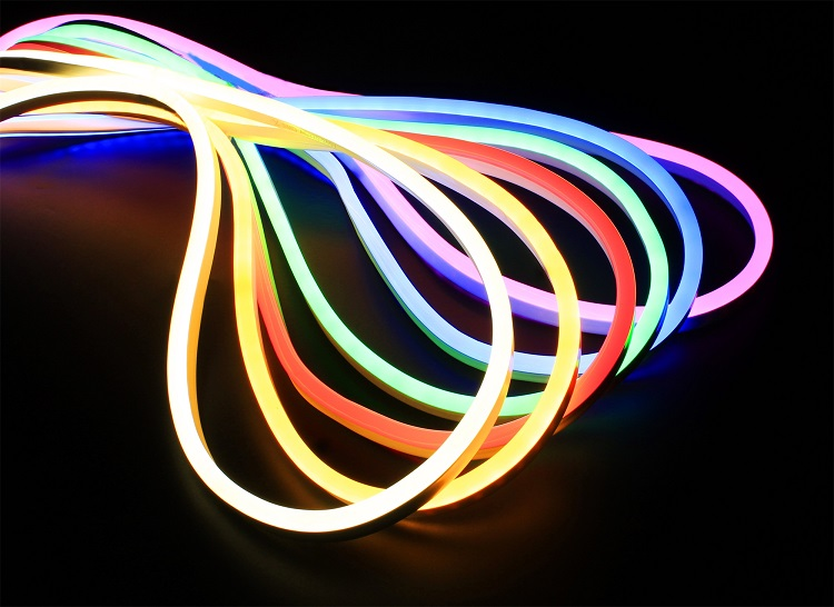 Hot sale 24V waterproof silicone led neon flex light strip for decoration