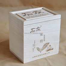 Paulownia wood box, Custom logo log box with lid wholesale