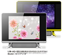 new model 15 INCH 17 INCH 19 INCH 4:3 ratio screen LED TV with double glass and sound bar