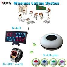 Top Popular Electronic Pager Wireless Electronic Call Restaurant Caller Equipment K-4-D+K-200C+K-O1plus Paging System