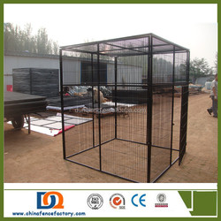 Hot sale galvanized or pvc coated Extra large dog kennels runs with a gate