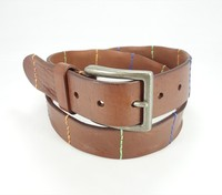 Fashion High Quality Genuine men casual jeans colorful leather belt