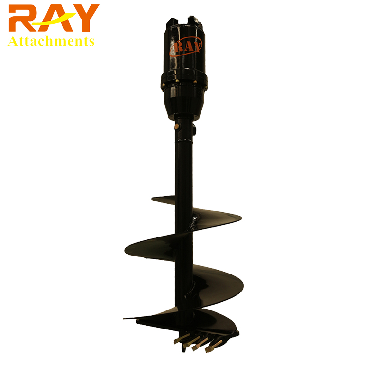 excavator spare parts rotary earth auger drilling rig machine