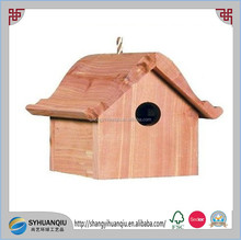 Cedar Wooden Hanging Wren Home Bird House with Dutch Style Roof