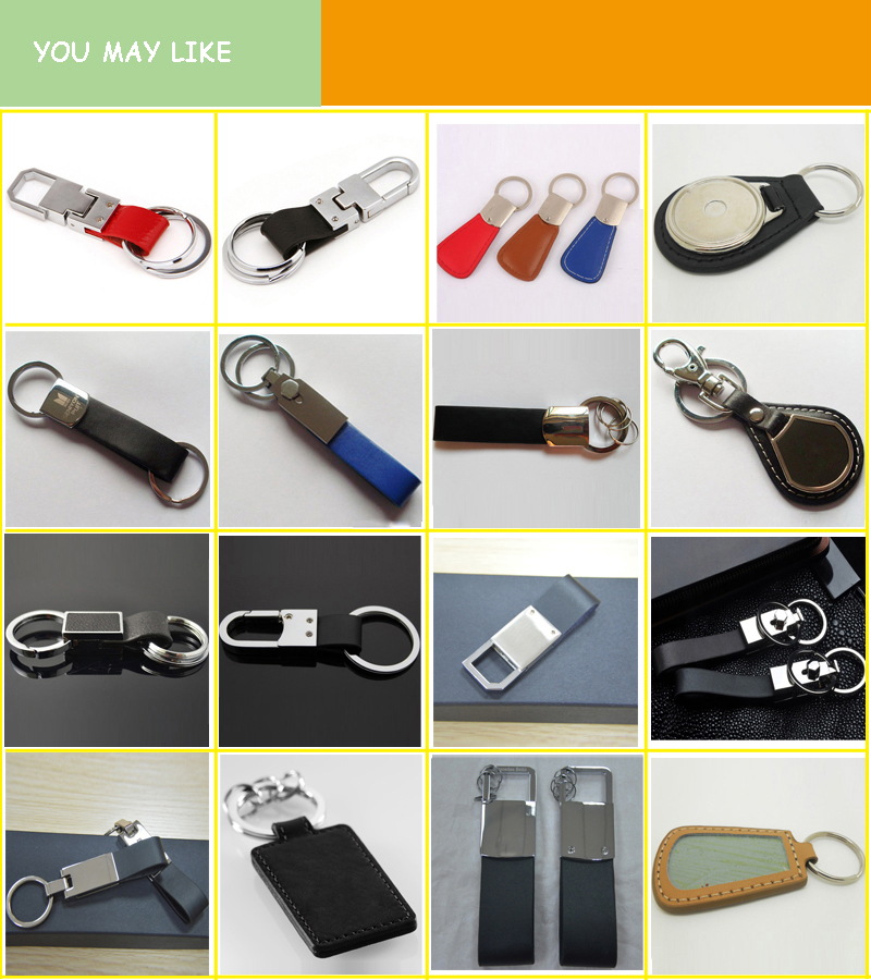 NEW Mens leather Creative Metal Keyfob Gift Car Keyring Keychain Key Chain Ring