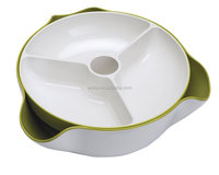 New Version Large Double Layer Plastic Dish Set And Multi Function Bowl