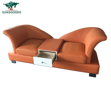 Best selling 2 seat sofa chaise,2 chaise sofa,2 seater sofa with storage box
