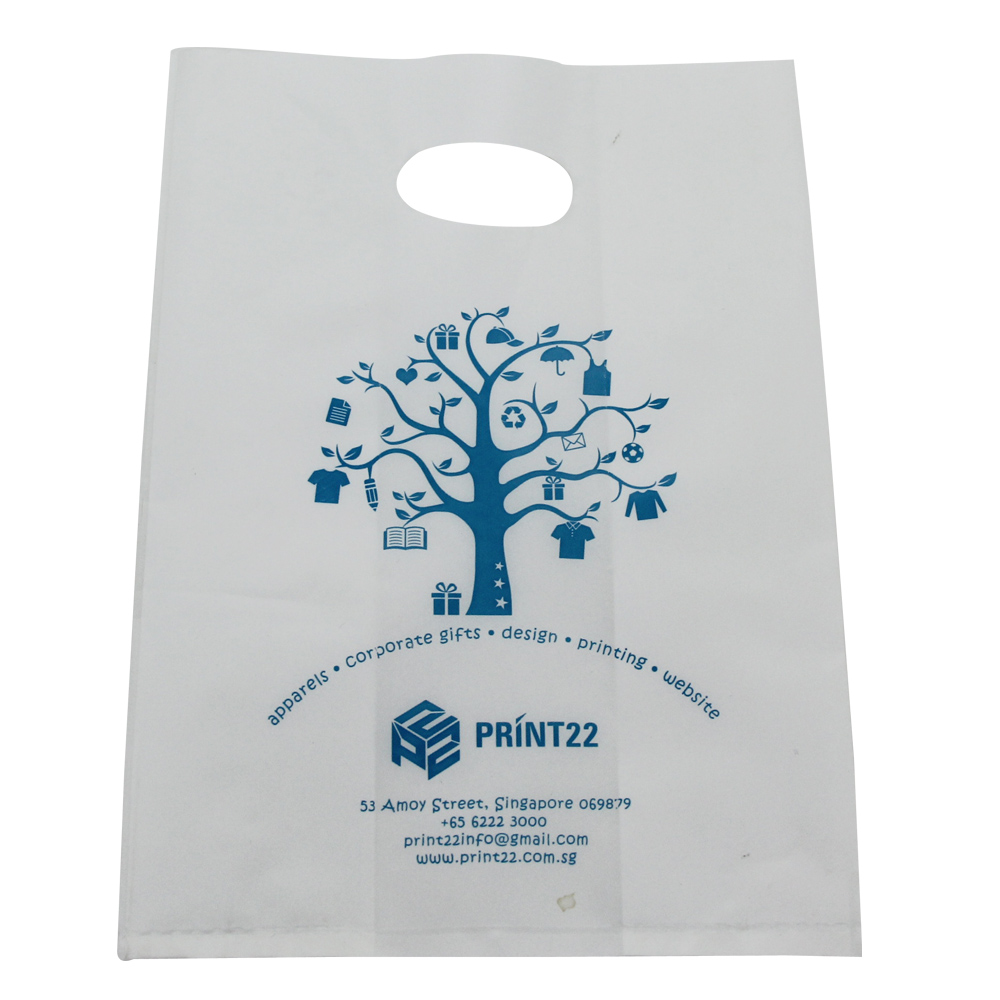 China manufacturer Custom Biodegradable Patch Handle shopping HDPE/LDPE pe plastic bag