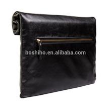 Boshiho Customer's Design Genuine lambskin Leather Zipper Case Cover For Mackbook air 13 macbook pro 13 inch