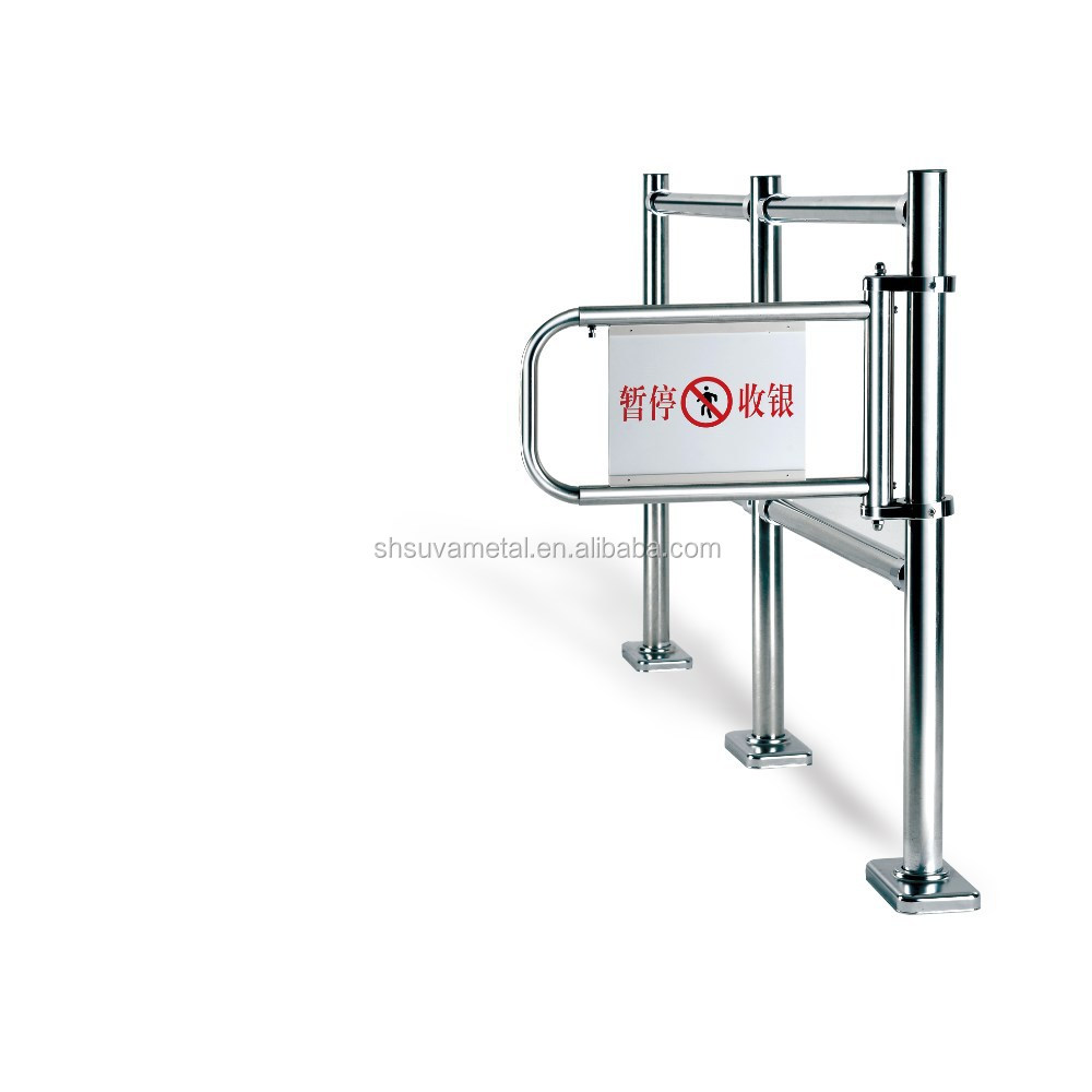 Stainless steel checkout cashier pedestrian emergency safety barrier gate/small iron gate