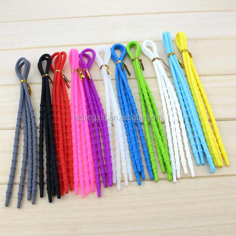 Best Sale Durable Elastic Round Lacing Shoelaces/Popular New Coming Promotion Elastic Silicone Shoelaces