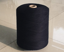 carded cotton indigo yarn waxed for weaving and knitting