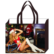 100% PP cheap custom OEM gift canvas christmas tote bag shopping bags