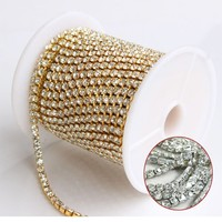 New Hand Made Rhinestone Cup Chain Trimming For Fashion Shoes,Dress,Necklace