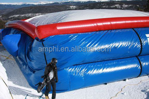 Inflatable giant hig quality trampoline airbag for winter games, jump air bag