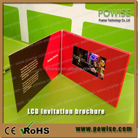 "2.4''/2.8''/4.3'/5""/7'/10'' TFT LCD video card/lcd video booklet/video brochure for advertising"