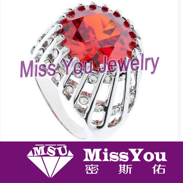 2016 wholesale high-end red diamond wedding ring