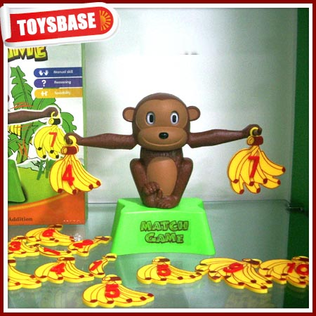 Cute monkey kids math toys figure up playsets