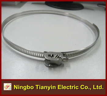 12.7mm bandwidth perforated type quick release hose clamp
