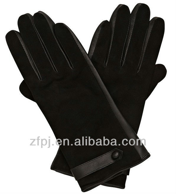 New special styles 100% quality fashion suede lady gloves