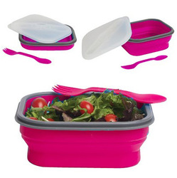 high quality silicone collapsible lunch box for kids