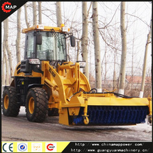 ZL16F wheel loader with snow blower snow cleaning machine