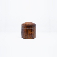 custom made cute and beautiful design cylinder shape wooden candy jar