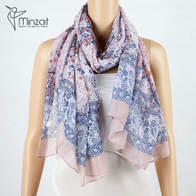 Ladies Fashion Printing Soft Voile Long Cheap Scarves