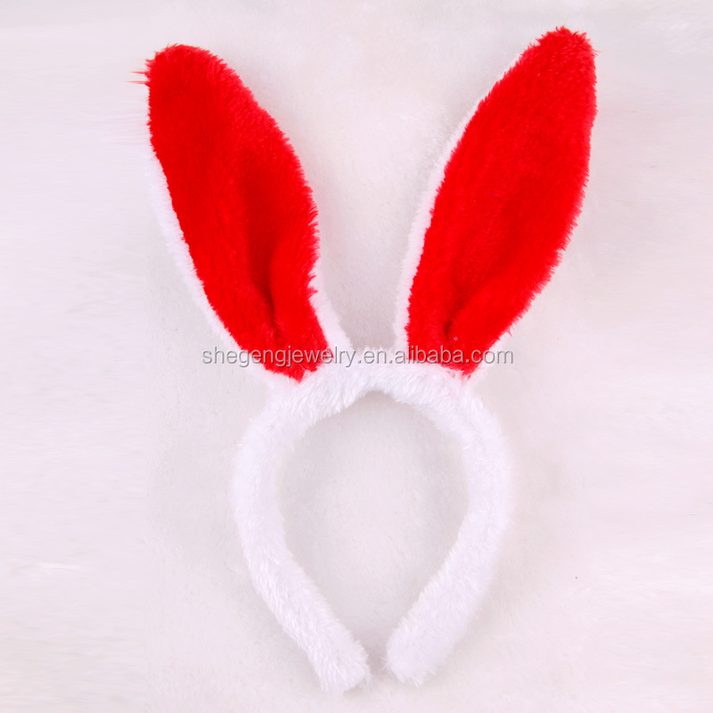 LED Flash Light Rabbit Bunny Ear Kid Girl Lady Hair HeadBand