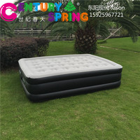 Luxury inflatable air bed , double airbed mattress, built in pump mattress air bed
