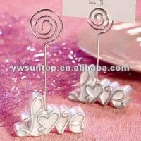 LOVE design resin place card holder cheap wedding favors