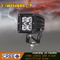 HOT Sale 20W 12V LED Work Light Lamp IP68 Spot 4x4 ATV Tractor Motorcycle Offroad Fog LED Worklight Car External Light