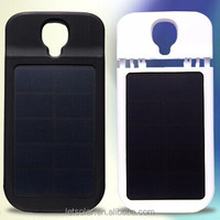 3000mAh rubber oil painted solar charger & case for Samsung galaxy S4 I9500 LET66