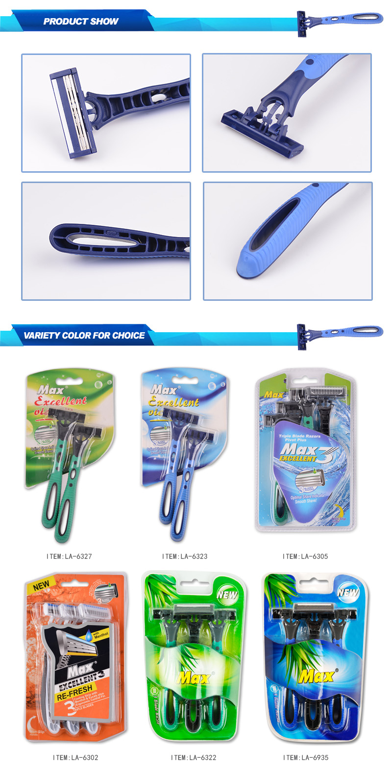 Sweden Triple blade disposable mens razor max brand