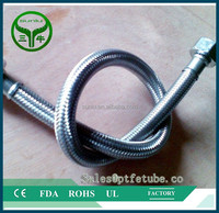 high temperature resistance stainless steel braided teflon