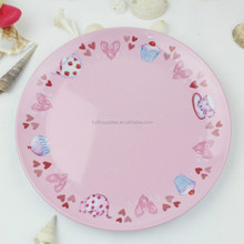 Disposable bamboo fiber melamine dish , colorful bamboo melamine plate