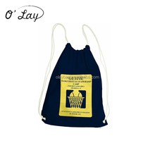 Cheap Promotional Cotton Cloth Drawstring Bag With Printing