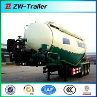 3 Axles dry bulk cement power tank semi trailer truck for sale 12R 22.5 tire 12000*2500*4000mm with Bohai air compressor