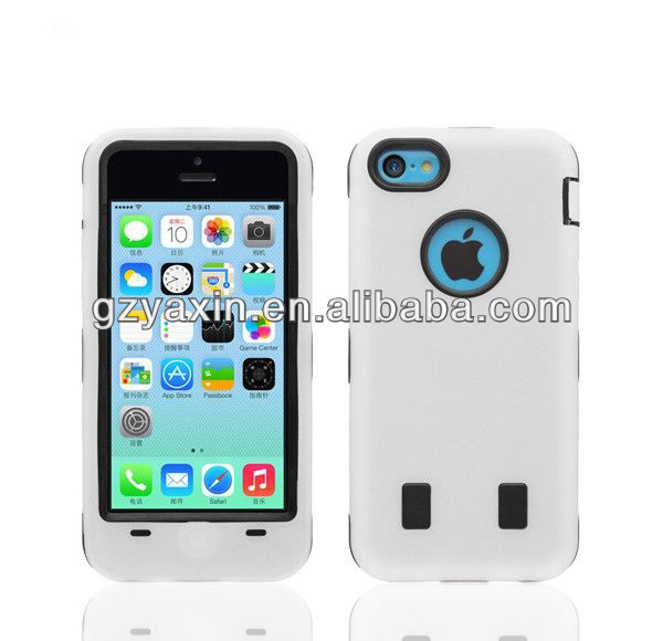 hybird plastic mobile phone cover for iphone 5c,mobile phones for sale factory,white cell phone plastic cover