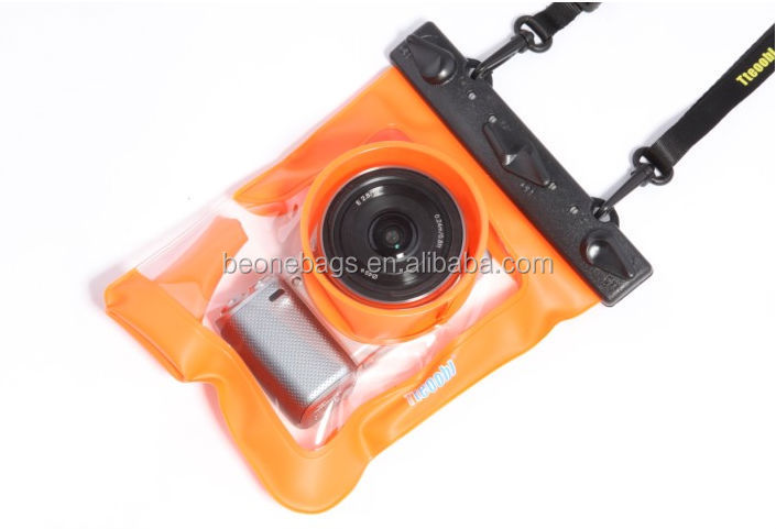 Wholesale pvc clear waterproof camera bag/waterproof camera case